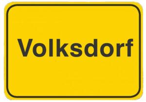 Immobilienmakler Volksdorf Ortsschild Hamburg Volksdorf